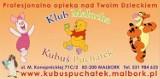 "Logo firmy Klub Malucha i punkt Opieki ""Kubuś Puchatek"""