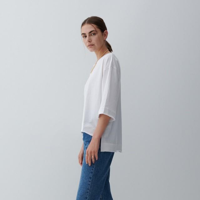 Reserved - Bawełniana bluzka - Biały