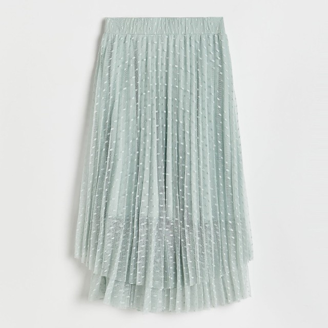 Reserved - Rozkloszowana spódnica midi - Zielony
