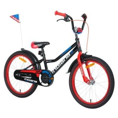 Rower dziecięcy INDIANA Rock Kid 20 cali dla chłopca Czarny
