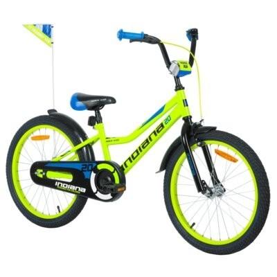 Rower dziecięcy INDIANA Rock Kid 20 cali dla chłopca Limonkowy