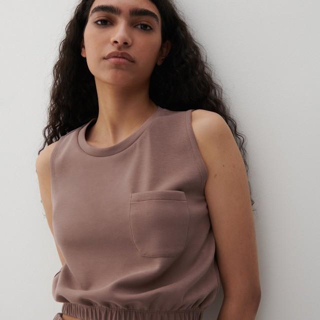 Reserved - Bluzka z Tencelu™ Modalu - Beżowy
