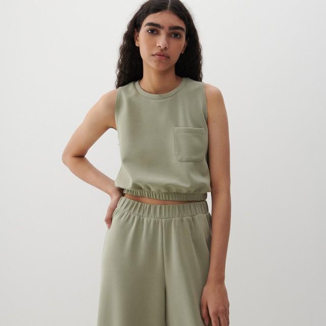 Reserved - Bluzka z Tencelu™ Modalu - Khaki