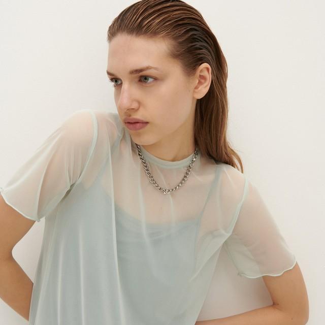 Reserved - Sukienka z siateczki - Wielobarwny