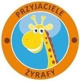 """Logo firmy """"Przyjaciele Żyrafy""""- punkt opieki nad dziećmi"""