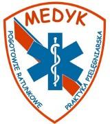 """Logo firmy """"Medyk""""mgr Piotr Policzkiewicz Pogotowie Ratunkowe Prywatna Praktyka Pielęgnarska"""