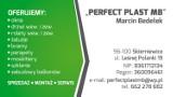 Logo firmy PERFECT PLAST MB