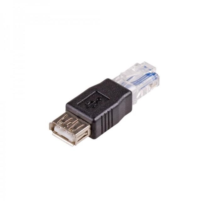 Akyga Przejściówka AK-AD-27 USB żeński-męski USB - RJ45- Zamów do 16:00, wysyłka kurierem tego samego dnia!