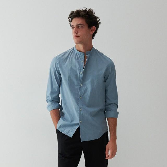 Reserved - Bawełniana koszula - Niebieski
