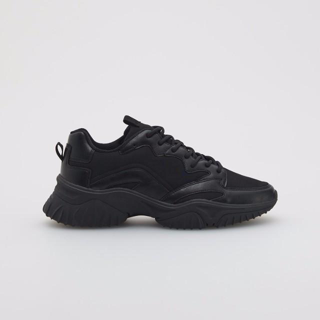 Reserved - Sneakersy na grubej podeszwie - Czarny