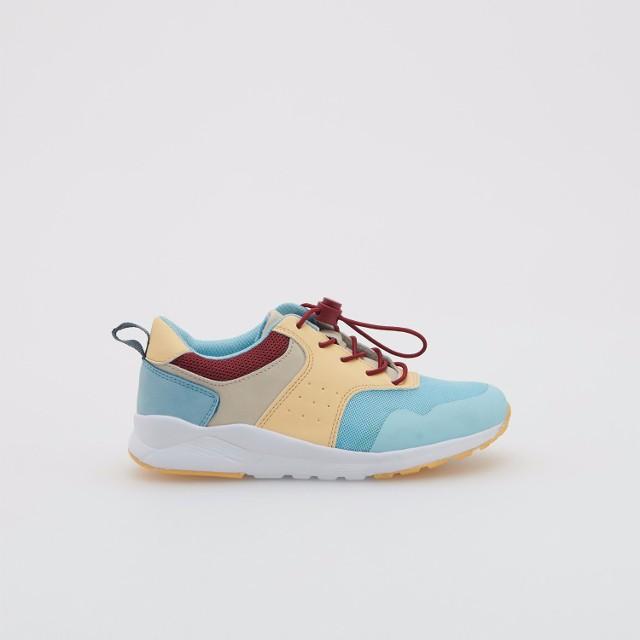 Reserved - Kolorowe sneakersy na grubej podeszwie - Niebieski