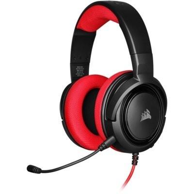 HS35 Czerwony Zestaw słuchawkowy CORSAIR
