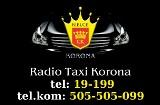Logo firmy radio taxi Korona tel. 19199