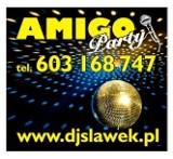Logo firmy DJ Wodzirej na wesele, popawiny,urodziny, imprezę firmową.
