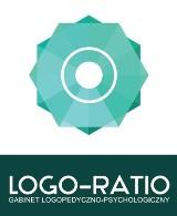 Logo firmy Gabinet logopedyczno psychologiczny Logo-Ratio