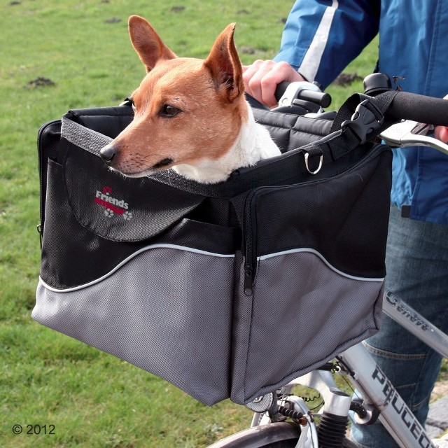 Trixie Friends on Tour de Luxe torba transportowa na rower - Dł. x szer. x wys.: 41 x 26 x 26 cm