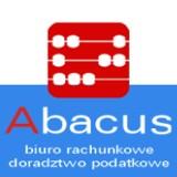"""Logo firmy """"ABACUS"""" Biuro rachunkowe-doradztwo podatkowe Rembiałkowska Krystyna - to firma istniejąca nieprzerwanie dla klientów od"""