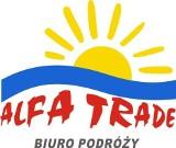 Logo firmy Biuro Podróży Alfa Trade, Pleszew