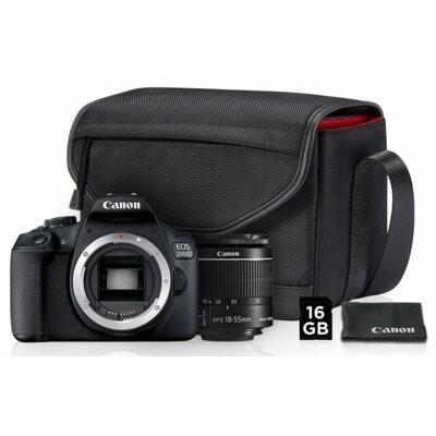 Aparat CANON EOS 2000D + Obiektyw EF-S 18-55 mm + Torba SB130 + Karta pamięci SDHC 16GB