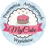 Logo firmy MajCake Pracownia Artystycznych Wypieków Agnieszka Majewska
