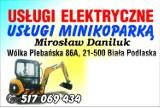 Logo firmy usługi minikoparką