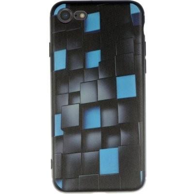 Etui WINNER GROUP 3D Glowing Cubes do Apple iPhone 7/8/SE 2020 Czarno-niebieski