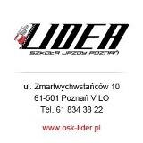 Logo firmy OSK LIDER - Szkoła Jazdy Poznań