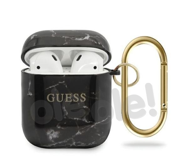 Guess GUACA2TPUMABK Etui Marble Collection AirPods (czarny)