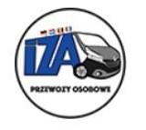 Logo firmy Krajowy i Międzynarodowy Przewóz Osób IZA