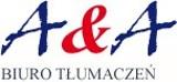 Logo firmy A&A Biuro Tłumaczeń