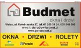 """Logo firmy Przedsiębiorstwo Wielobranżowe """"Budmet"""" Tadeusz Pacanowski  Wałcz"""