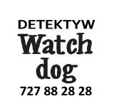 """Logo firmy Prywatny Detektyw Wrocław """"Watchdog"""" 727 88 28 28"""